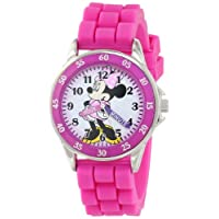 Disney Kids' Minnie Mouse Pink Watch with Rubber Band
