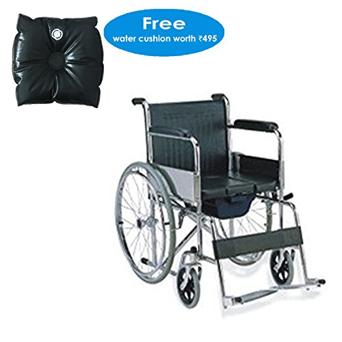 KHL Foldable Commode Wheelchair (154-00002)
