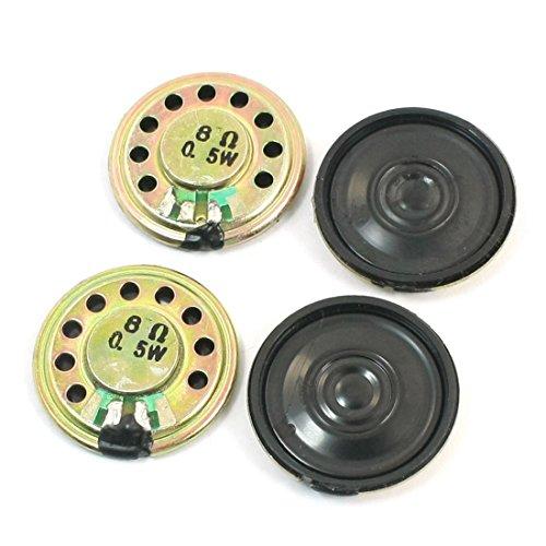 Magnet Lautsprecher - TOOGOO(R)4 Stueck 0.5W 8 Ohm 28mm Durchmesser Mini Metall innerhalb des Magneten Musik Player Lautsprecher