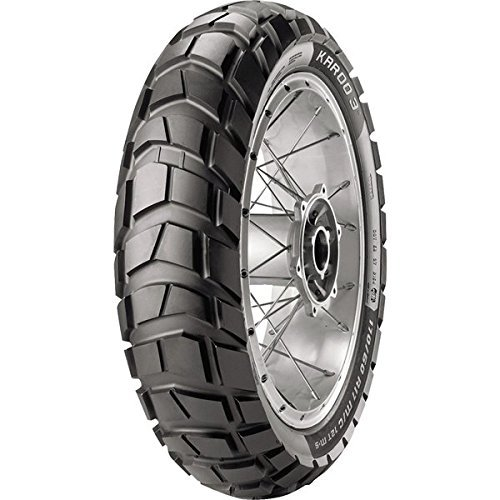Metzeler karoo 3 tire - rear - 150/70-18 , position: rear, rim size: 19, tire application: all-terrain, tire size: 150/70-18, tire type: dual sport, load rating: 70, speed rating: t, tire construction: radial 2316800 by metzeler