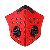 Mascara Antipolvo Media Mascarilla Antipolvo con filtros para Actividades Aire Libre Ciclismo(Rojo)