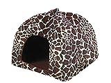 thematys Colchoneta Material de Felpa Cama de Almohada Lavable y Resistente a los arañazos para Perros y Gatos (XL, Marron)