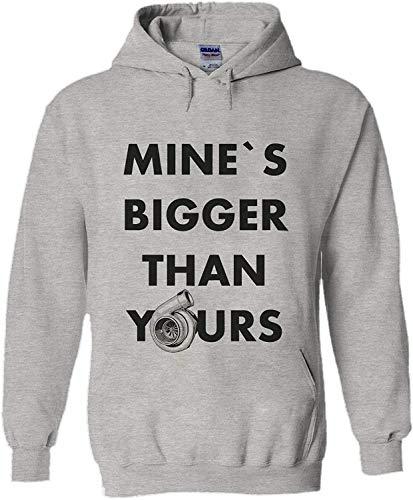 asegybbb Mine`s Bigger Than Yours Turbo Tuning Novelty Black Men Unisex Hooded Sweatshirt Hoodie