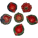 Trends Diwali Diya Traditional Handmade Earthen Clay_Set Of 6