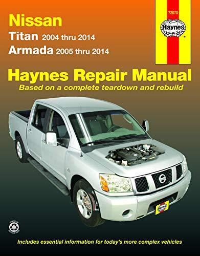 Nissan Titan (2004-2014) & Armada (2005-2014) Haynes Repair Manual (USA) - Titan Nissan Motor