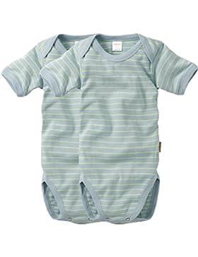 wellyou Baby und Kinder kurzarmbody/baby-body mädchen und junge aus Baumwolle, kurzarm body in neon-gelb hellblau...