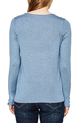 Esprit, Pull Femme Bleu (Grey Blue 5 424)