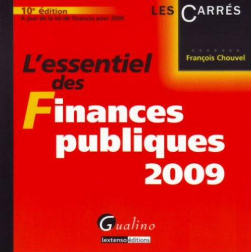 L'essentiel des Finances publiques 2009