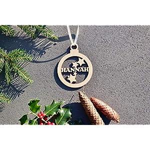 Weihnachtskugel mit Namen in Wunschfarbe- Kugel mit Sternen - Christbaumkugel Christbaumschmuck Weihnachtsbaumkugel