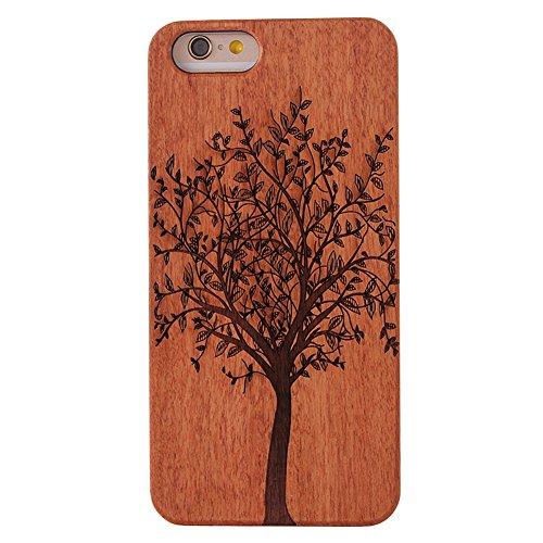 G-i-Mall iPhone SE Holzhülle - Ultraslim Handyhülle Echtem Holz Schutz Hülle Schale mit PC Bumper Hart Cover Case Etui für Apple iphone 5 5S SE Smartphone, Wood Cover#6
