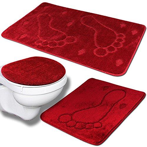 WC-Garnitur kuscheliger Hochflor