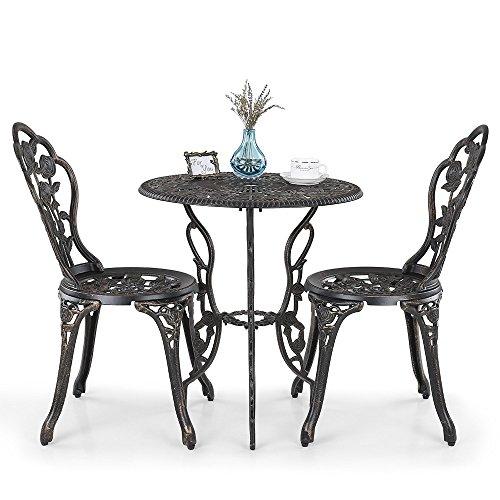 Lazy Susan - Mesa bistro ROSE y 2 sillas de jardín - Conjunto de ...