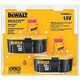 2 x Dewalt 18v DC9096 - DE9096 XRP 2.4Ah Ni-Cd Batteries In Blister Pack * Fulfilled by Amazon*