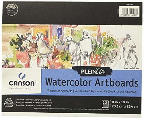 Plein Air Watercolor Artboard 8X10 10 Boards