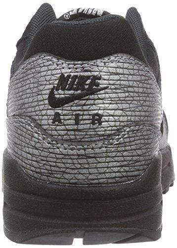 Nike Air Max 1 Prm, Chaussures De Gym Pour Femme Noir (schwarz (noir / Métal Hématite-noir))