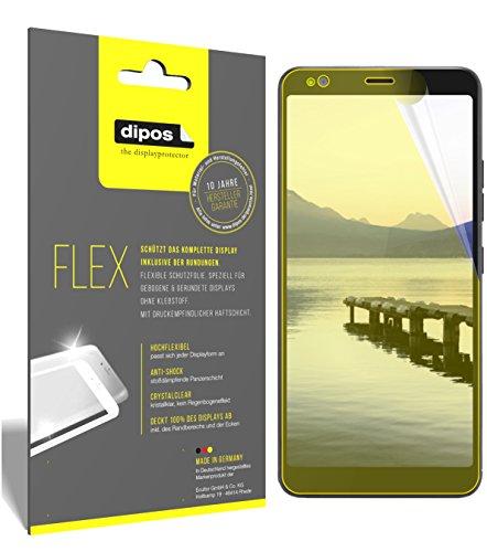dipos I 3X Schutzfolie 100prozent passend für Gigaset GS370 Plus Folie (Vollständige Bildschirmabdeckung) Bildschirmschutzfolie