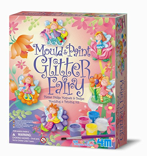 Make Your Own Glitter Fairy Fridge Magnets & Badges - Make Your Own Vehicle Set - Best Selling Creative - Arts & Crafts Toys & Games Present Gift Ideal For Christmas Xmas Stocking Fillers Age 5+ Girls Girl Children Child Kids