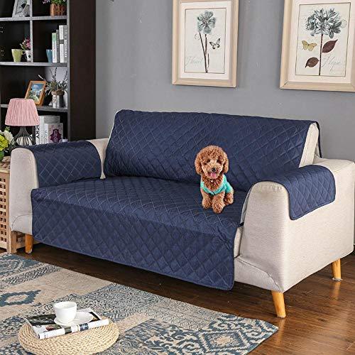 Kobwa copridivano impermeabile divano protector, 3 posti fodera per divano mobili coperture su due lati per cani/gatti letto con divano slipcovers tinta unita 65,7 * 74,8in