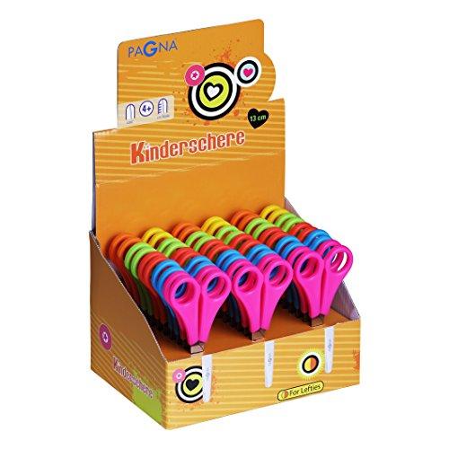 Pagna 99217-00 - forbici per bambini, rotonde, assortite, con 30 pezzi (forbici per mancini e destrorsi)