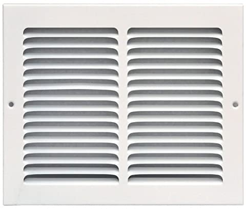 Speedi-Grille SG-108 RAG 10-Inch by 8-Inch White Return Air Vent Grille with Fixed Blades by Speedi-Grille