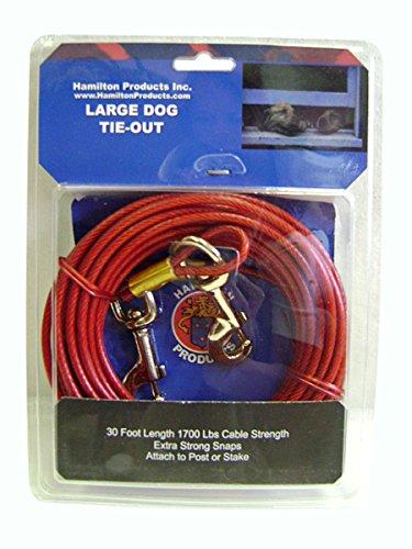 Hamilton 30-foot Dog Tie Out mit Kabel-, groß (Hund Tie-out-kabel Großen)
