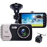 Dual Objektiv Auto Kamera Podofo 7 'Android 5.0 GPS Navigation 3G Dash Cam Rückansicht...