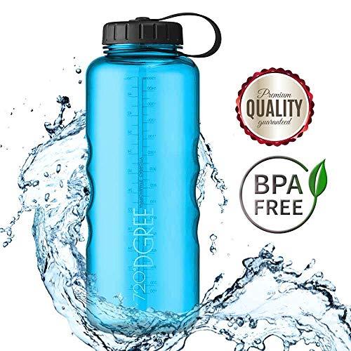 720°DGREE Trinkflasche simplBottle Wasserflasche aus Tritan 1.5L, 1500ml | Auslaufsichere Flasche mit Weithals für Sport, Outdoor | Perfekte Sportflasche Blau - BPA Frei | Gym Bottle - Robust