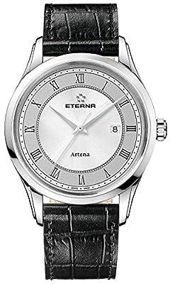 Eterna artena Mens Analogue Swiss Quartz Watch with Leather Bracelet 2520.41.55.1258