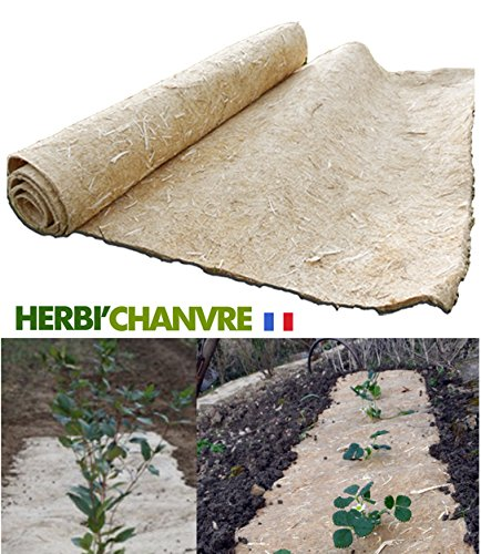 Toile de paillage Herbi'Chanvre - 89cm x 1,5m - 100% Chanvre naturel 100% Français