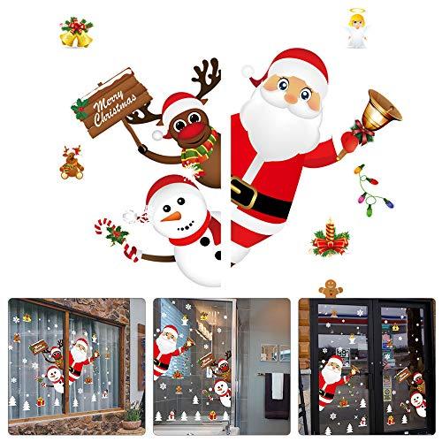 Ventana Navidad - etiquetas engomadas PVC DIY puerta