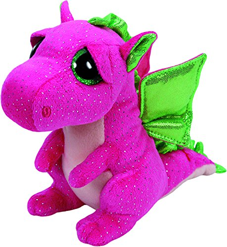 "Beanie Boo Dragon - Darla - Pink - 24cm 9"""
