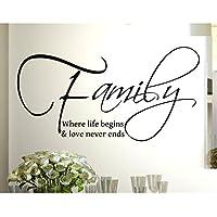 Stickerdesign Adesivo Murale Wall Stickers Frase Citazione Family & love Amore e Vita Adesivi Murali Decorazione interni Frase