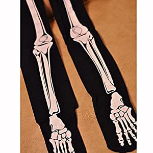 Yasson Halloween Déguisement Collants Os de Squelette Sorcière Taille Unique