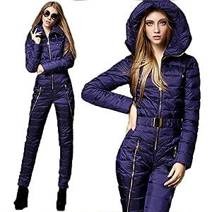 KTUCN Neue Winterkleidung Set Oberbekleidung Hochwertige Skianzug Frauen Ski JackenHosen Sets Weibliche Daunen Skianzüge
