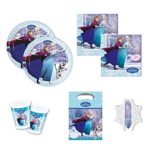 Preisvergleich Produktbild Frozen Ice Skating Partygeschirr Partyset Servietten Becher Teller Partytüten Einladungskarten Kinder-Geburtstag Geschirr Anna Elsa Olaf (8)