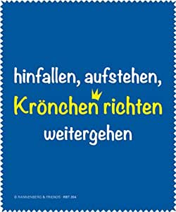 """Brillenputztuch """"Krönchen richten"""" Rannenberg und Friends"""