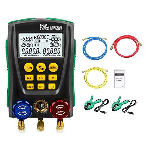 JUNERAIN DY517A Manometer Kältetechnik Digital Vakuum Manifold Tester -