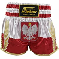 4Fighter Shorts Muay Thai National Polonia en el diseño de la bandera nacional, Talla:XXXL
