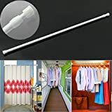 Generic Metal and Plastic Retractable Curtain Hanging Rod (60-110cm, Multicolour)