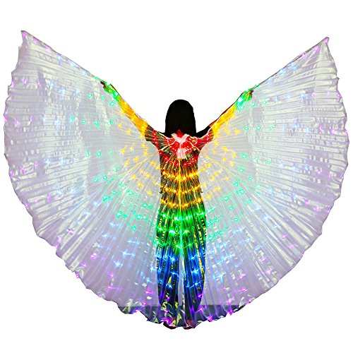 Dance Fairy Bauchtanz 5 Farbe LED Isis Wings mit Stick ()