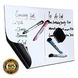 Pizarra Magnética de Borrado en Seco A3 + Menú del Refrigerador de La Cocina Lista de Compras Memorándum Recordatorio Plan Diario Dibujitos de Niños Incluye 4 Marcadores y 1 Borrador