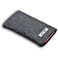 Norrun Hennes Handytasche aus Wolle maßgeschneidert mit Mikrofasereinlage, Strahlenschutz ersetzt die Tasche von Hersteller / Modell Samsung Galaxy S6 edge
