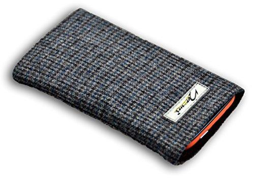 Norrun Handytasche / Handyhülle # Modell Hennes # ersetzt die Handy-Tasche von Hersteller / Modell Samsung SGH-E880 # maßgeschneidert # mit einseitig eingenähtem Strahlenschutz gegen Elektro-Smog # Mikrofasereinlage # Made in Germany