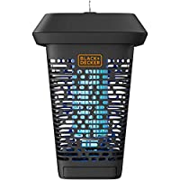 Black+Decker - Atrapador de insectos eléctrico UV y matador para moscas, mosquitos, gnats y otras plagas voladoras pequeñas a grandes | 1 Acre cobertura exterior para el hogar, cubierta, jardín, patio, camping y más