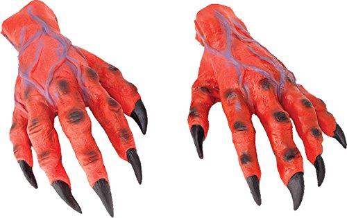 Bristol Novelties Erwachsene Scary Halloween Fancy Party Teufel Monster 's Kostüm Horror Weihnachts Hände UK, Rot