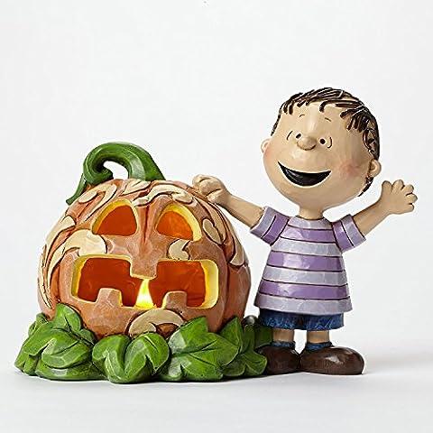 Jim Shore for Enesco Peanuts Linus and the Great Pumpkin Figurine, (Halloween Jim Shore)