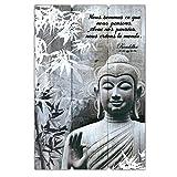 Cadre Bouddha Bois avec Citation - Nous Sommes Ce que Nous Pensons....