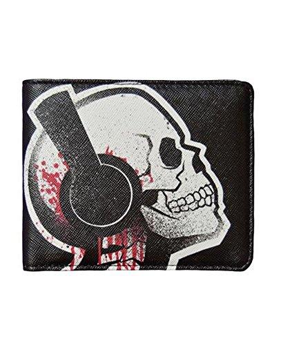 Akumu Ink - Herren Tattoolook Geldbörse Tone Death - Tattoo Skull (Schwarz) (Skull Cap Deluxe)