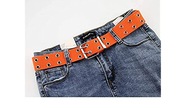 FTTYUOP Punk Ladies Belt Canvas Fashion New Single Hole