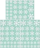 81 Stk Schneeflocken Selbstklebend Fensterschmuck Weihnachten Schneeflocke Weihnachtsdeko Fenstertattoo Wandtattoo Weihnachten Deko weiss